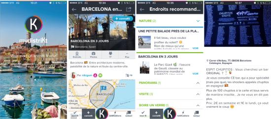 mydistriKt coneil local pour créer son voyage sur smartphone