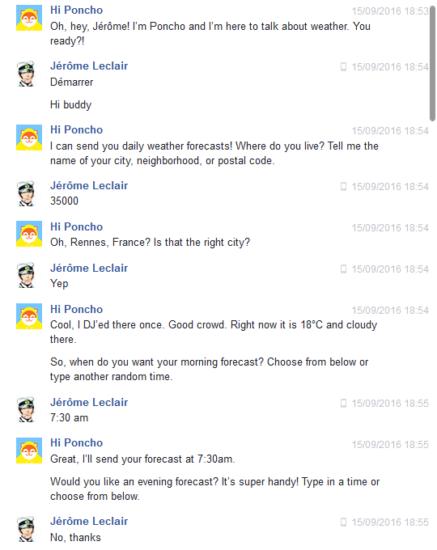 Hi Poncho, la météo avec un soupçon d'humour