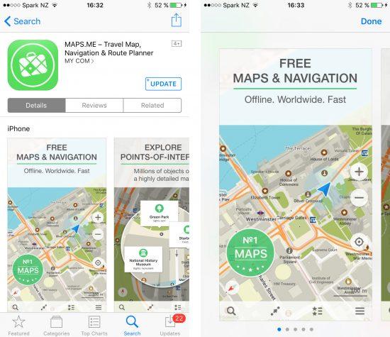 Maps.me App store