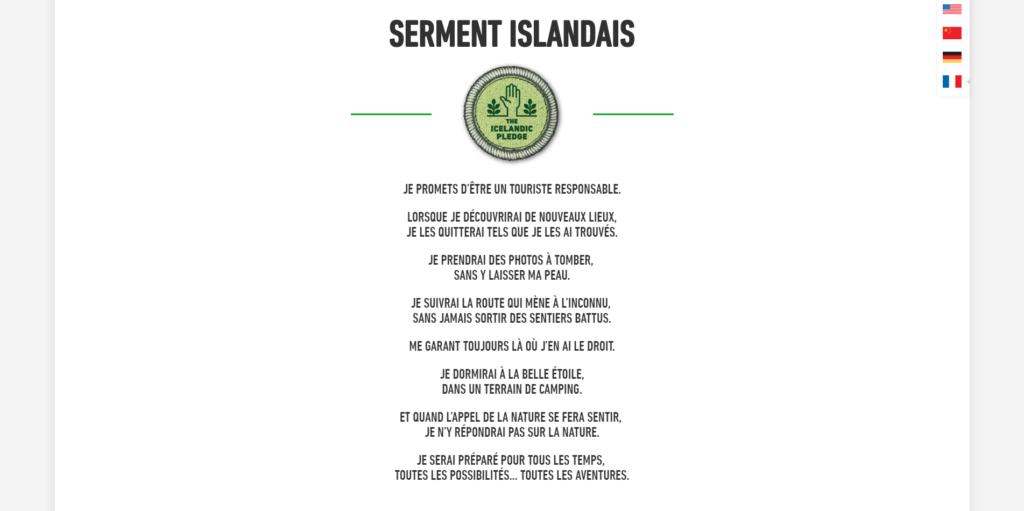Serment islandais