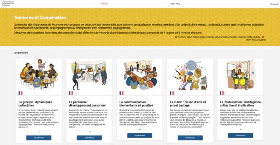 Tourisme et coopération micro learning