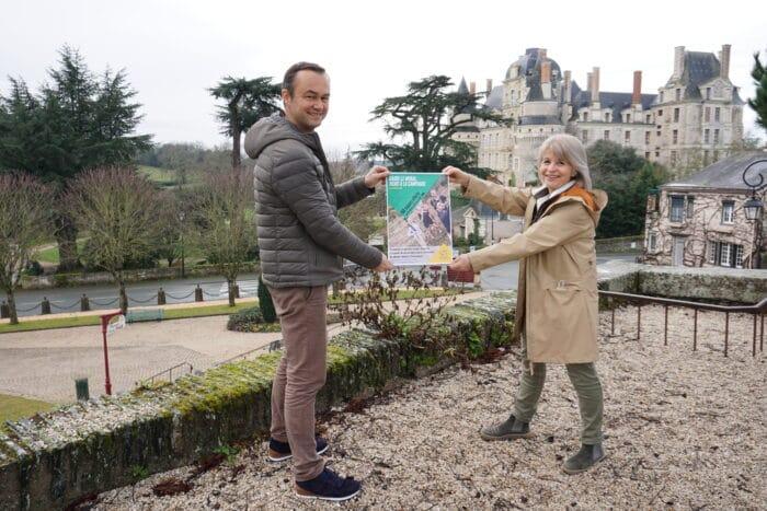 Aurélien, directeur de l'office et Maryline, pour l'OT Anjou Vignoble et Villages
