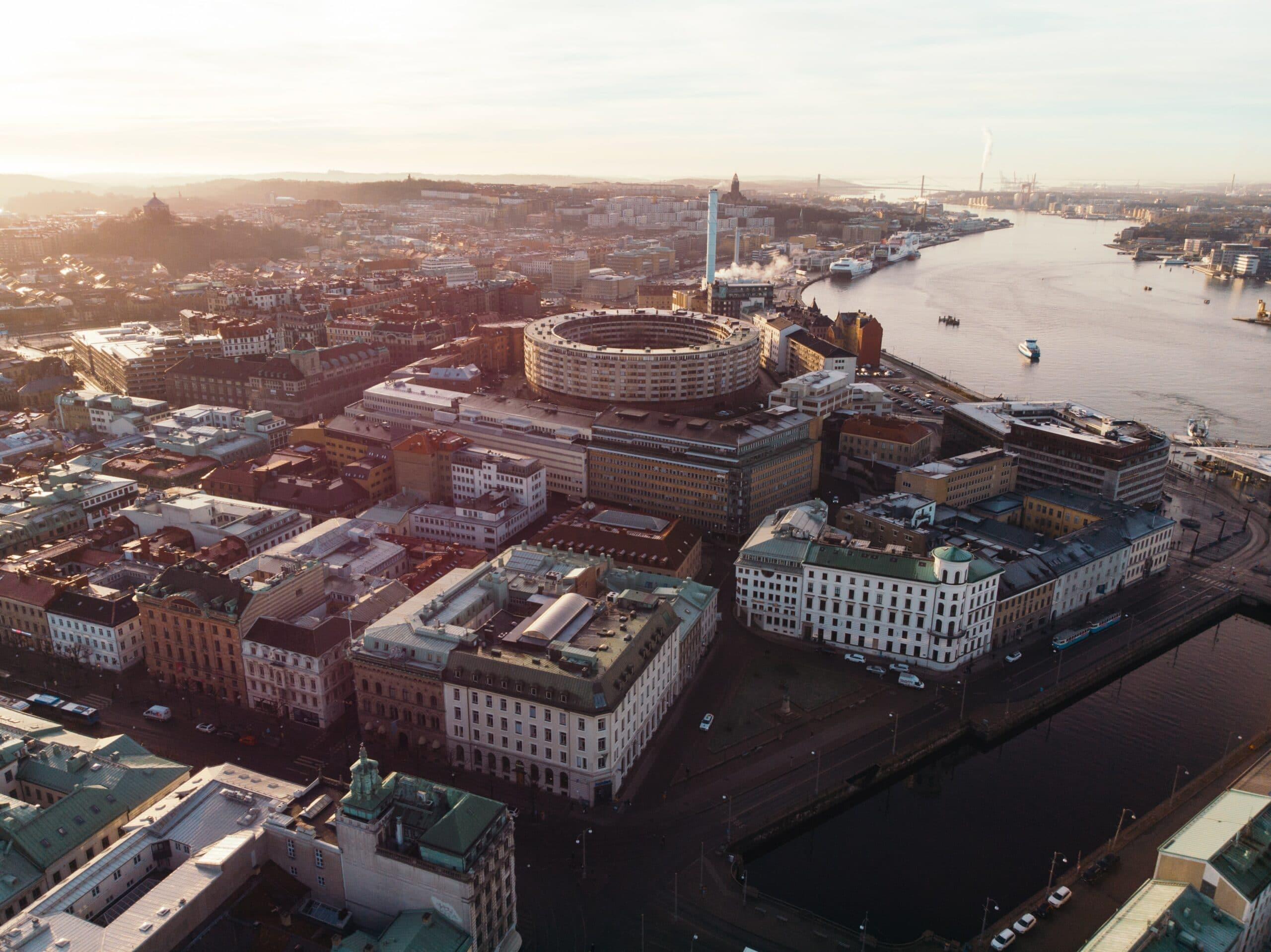 Vue du centre-ville de Göteborg