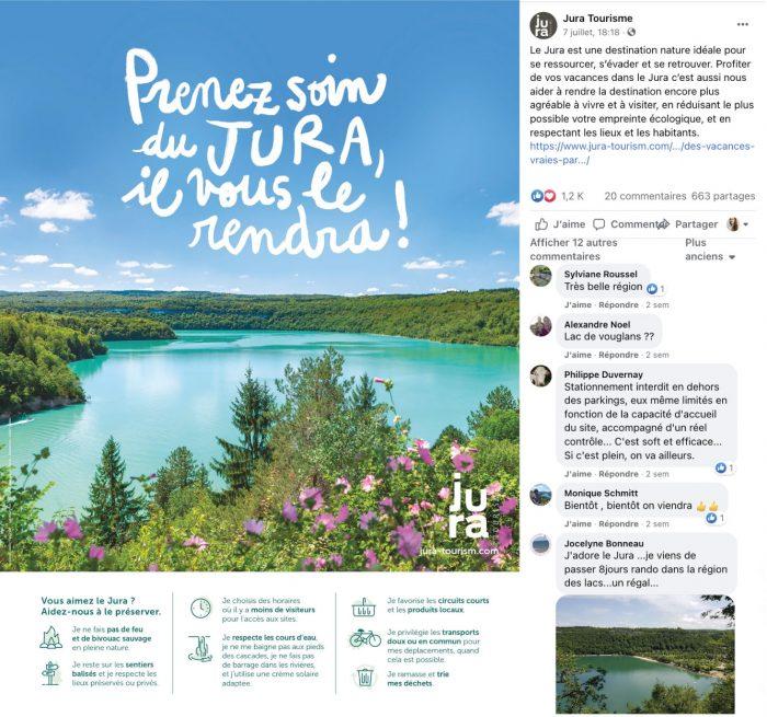 Le Jura est une destination nature idéale pour se ressourcer, s'évader et se retrouver. Profiter de vos vacances dans le Jura c'est aussi nous aider à rendre la destination encore plus agréable à vivre et à visiter, en réduisant le plus possible votre empreinte écologique, et en respectant les lieux et les habitants.